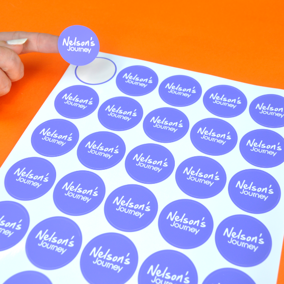 Charity Lapel Stickers printed for fundraising