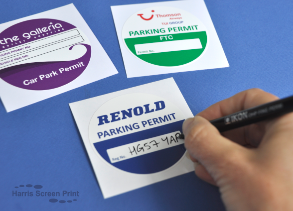 Car Parking Permit Stickers I Car Windscreen Stickers I