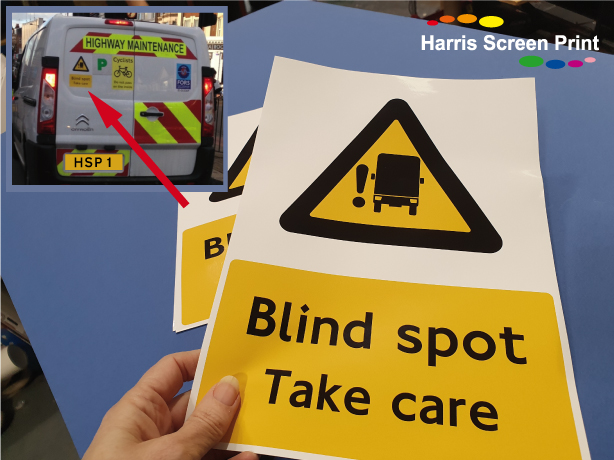 Blind Spot Take Care Van Stickers Printed