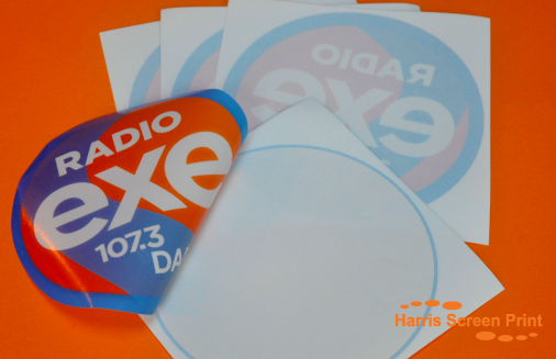 Car window stickers printed for radio station