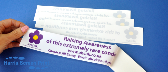Car Window stickers printed for AHCUK Charity