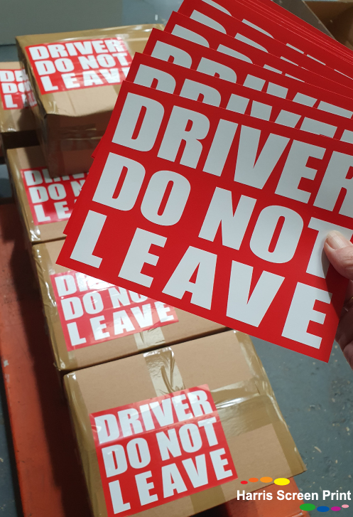 Driver Do Not Leave Box Labels Printed
