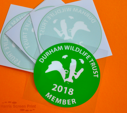 Membership Cling Window Stickers printed for Durham Wildlife Trust