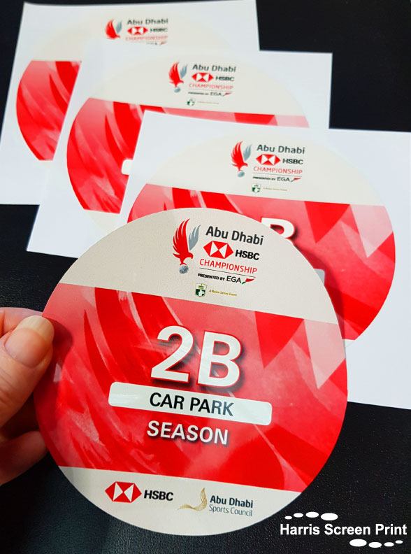 Sports Events Parking Permits Printed