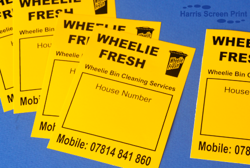 Heavy Duty Waterproof Stickers printed for cleaning company