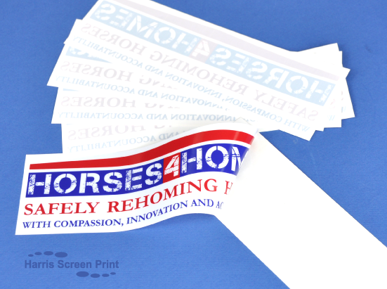 Rear window stickers printed for Homes4Horses charity