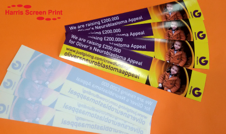 Oliver's Appeal Charity Car Stickers Printed