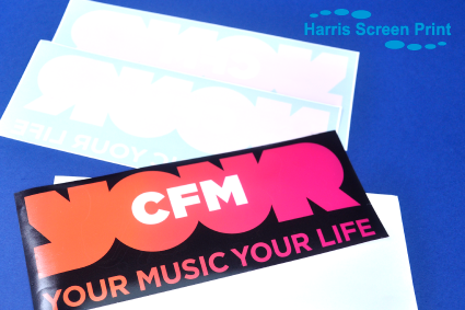 Car window stickers for Radio Station CFM