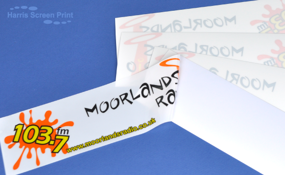 Car Stickers printed for Moorlands Radio Station