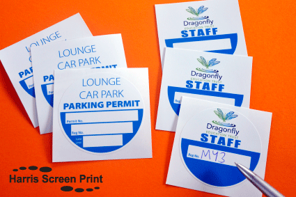 Windscreen Permit Stickers you can write on