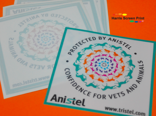 Window Stickers printed full colour for vets