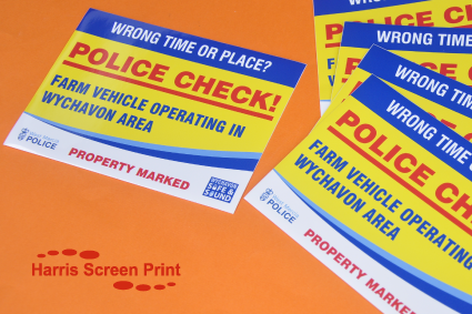 Waterproof Stickers printed for the Police