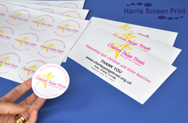 Charity Fundraising Stickers printed