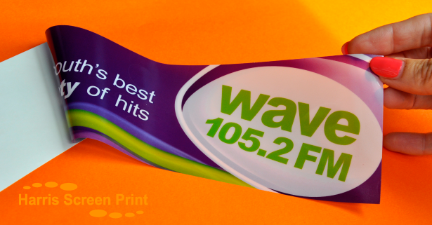 Car window stickers printed for Wave 105 Radio Station