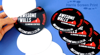 Car Window Stickers and Car Bumper Stickers printed for Climbing Centre