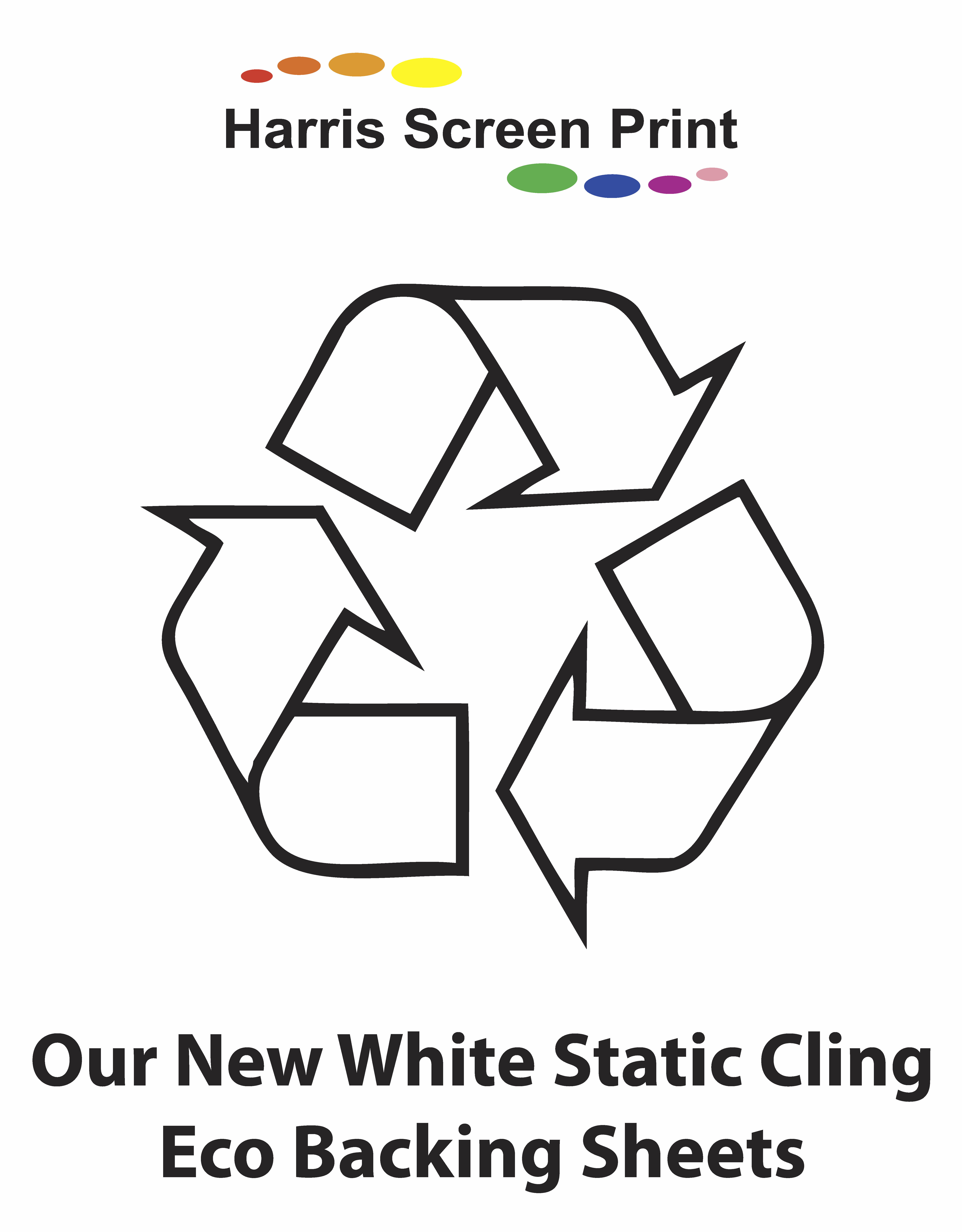 Our New White Static Cling Vinyl