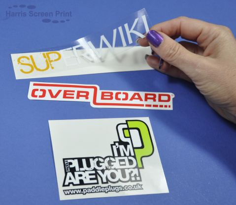 Printed waterproof stickers are ideal for water sports and the marine industry